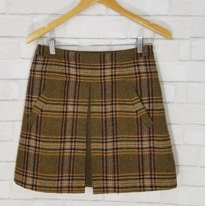 NEW Kumikyoku Moon England Plaid Wool Pleat Skirt